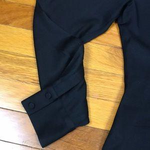 bebe Tops - Black Chevron Design Button Down Bebe Blouse Sz L